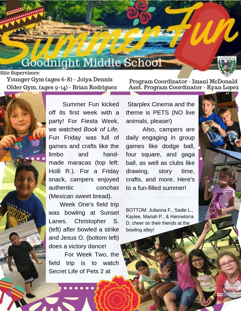 Summer Fun Week One Blog- Page 1