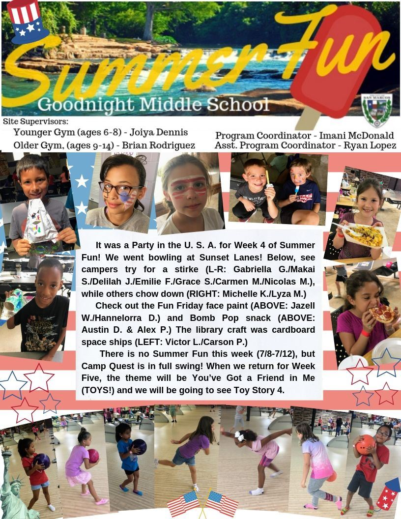 Summer Fun Week Four Blog- Page 1