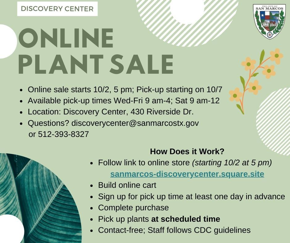 Online Plant Sale Fall 2020